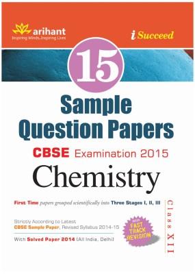 CBSE - Chemistry Examination 2015 : 15 Sample Question Papers (Class 12) (English) 3rd  Edition price comparison at Flipkart, Amazon, Crossword, Uread, Bookadda, Landmark, Homeshop18