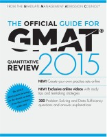 The Official Guide for GMAT Quantitative Review 2015 (English): Book