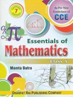 Essentials of Mathematics-X as per CCE (English) 7th Edition: Book