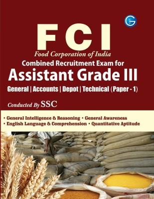 FCI Food Corporation of India: Combined Recruitment Exam for Assistant Grade 3 (Paper - 1) price comparison at Flipkart, Amazon, Crossword, Uread, Bookadda, Landmark, Homeshop18
