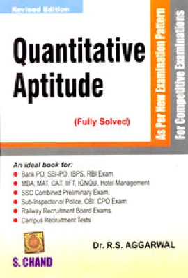 Buy Quantitative Aptitude For Competitive Examinations 24th Edition: Book