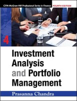 Investment Analysis and Portfolio Management (With CD) 4th Edition 4th  Edition: Book