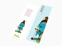Paapaya Shiva (pack Of 10) Regular Bookmark (Religious, Blue)