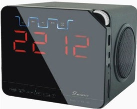 Super-IT Ducasso Black Boy Rechargeable with USB, MMC ,Alarm Clock ,Aux & FM Radio Boom Box