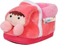 Ole Baby Cute Noddy Plush Soft Furry Organic 3d Toons 3-12 Months Booties (Toe To Heel Length - 12 Cm Dark Pink)