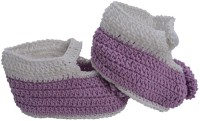 Graykart Light Purple Baby Room Shoes/ Pre Walker Booties (Toe To Heel Length - 11 Cm Light Purple, White)