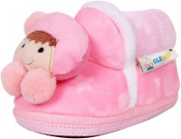 Ole Baby Cute Noddy Plush Soft Furry Organic 3d Toons 3-12 Months Booties (Toe To Heel Length - 12 Cm Pink)