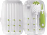 OXO Tot On The Go Drying Rack And Bottle Brush (Green)
