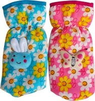 Littly Floral Print Bottle Covers Combo (Blue, Pink)