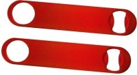 King Traders KT-B0-R-0287-1 Red Coloured Flat Bottle Opener Set Of 2 Pcs Bottle Opener (Pack Of 2)