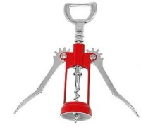 Vmore 00329 Stainless Steel Red Corkscrew Beer Wine Bottle Opener (Pack Of 1)