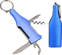 ShadowFax KEYCHAIN Metal Wine Bottle Shape Keychain With 5 Tools Bottle Opener (Pack Of 1)