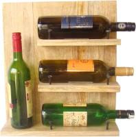 Craftsmen Glozzld Wooden Wine Rack (Brown, 4 Bottles)