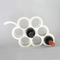 Infra Engineering Steel Wine Rack (White, Red, Yellow, Blue, Black, 8 Bottles)