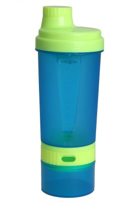 Rihaso Super Shaker Blue 650 Ml Bottle (Pack Of 1, Blue, Fluorescent Yellow)
