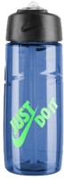 Nike T1 FLOW JDI SWOOSH WATER BOTTLE 16oz 473 Ml Sipper (Pack Of 1, GAME ROYAL/GREEN STRIKE)