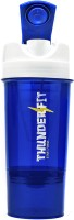 THUNDERFIT 280-BLUE-II ORIGNAL GYM AND PROTEIN 750 Ml Bottle, Bottle Cage, Flask, Shaker, Sipper, Water Bag (Pack Of 1, GREEN AND BLACK)