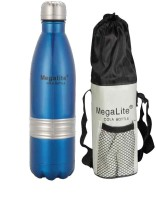 MegaLite Stainless Steel Cola Bottle 1000 Ml Flask (Pack Of 1, Blue)
