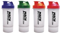 Mach Nutrition PP8 650 Ml Shaker, Bottle, Sipper (Pack Of 4, Clear, Red, Blue, Orange, Green)