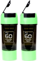 My 60 Minutes Pack Of 2 Green Cyclone Shaker 500 Ml Bottle (Pack Of 2, Green, Green)