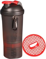 Souk Fitness Hook Shake 500 Ml Shaker, Bottle (Pack Of 1, Black, Red Cap)