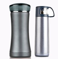Power Plus Travel Flask 500 Ml Flask, Sipper (Pack Of 2, Grey)
