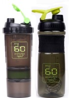 My 60 Minutes Pack Of Green Hulk & Green Smart Shaker 760 Ml Bottle (Pack Of 2, Green, Green)