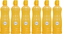 Harshpet Fridge Bottle- Chreey Yellow 1000 Ml Bottle (Pack Of 6, Yellow)