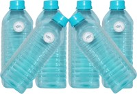 Harshpet Harshpet 1000ml 38mm Fridge Bottle_jupiter_transparent_blue 1000 Ml Bottle (Pack Of 6, Blue)
