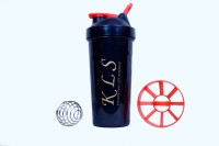 KLS Black Shaker With Steel Ball 600 Ml Sipper (Pack Of 1, Black)