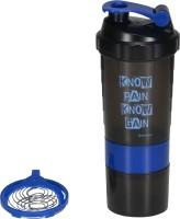 Ishake Speed 500 Blue Band Two Storage 500 Ml Bottle 500 Ml Bottle, Shaker, Sipper (Pack Of 1, Blue)