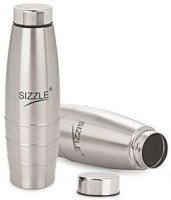 Sizzle Fridge Water 2 Pc Set Sfb-501 1000 Ml Bottle (Pack Of 2, Silver)