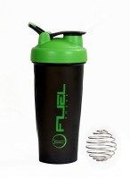 Fuel Shaker Easy Grip 600 Ml Sipper, Shaker, Bottle (Pack Of 1, Black & Green)