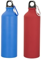 GADGE SPORTS BOTTLE MATT BLUE AND RED 750 Ml Sipper (Pack Of 2, Multicolor)