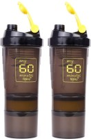 My 60 Minutes Pack Of 2 Yellow Hulk Shaker 500 Ml Bottle (Pack Of 2, Yellow, Yellow)