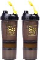 My 60 Minutes Pack Of 2 Yellow Hulk Shaker 500 Ml Bottle (Pack Of 2, Yellow, Yellow)