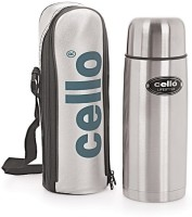 Cello Lifestyle 1000 Ml Flask Pack Of 1, Silver, Black