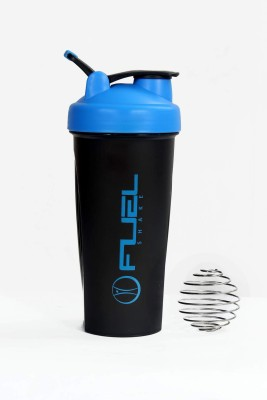 Fuel Shake Easy Grip 600 Ml Sipper, Shaker, Bottle (Pack Of 1, Black & Blue)