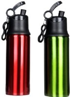 Pexpo PXPSRG 750 Ml Sipper (Pack Of 2, Lacquered Red And Lacquered Green)