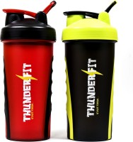 THUNDERFIT 250-COMBO-III ORIGNAL GYM AND PROTEIN 750 Ml Bottle, Shaker, Water Bag, Sipper, Bottle Cage, Flask (Pack Of 2, RED AND BLACK)