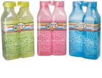 Nayasa Square Deluxe 1000 Ml Bottle (Pack Of 6, Green, Pink, Blue)