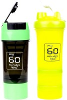 My 60 Minutes Pack Of Green Cyclone And Green Big Boy Shaker 500 Ml Bottle (Pack Of 2, Green, Green)