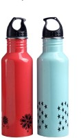Pexpo PXPDPDB 750 Ml Bottle (Pack Of 2, Designer Peach, Designer Blue)