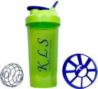 KLS Green Shaker With Steel Ball 600 Ml Sipper (Pack Of 1, Green)