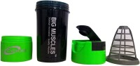 BIG MUSCLE Protein 500 Ml Shaker (Pack Of 1, Black, Green)
