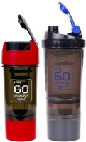 My 60 Minutes Pack Of Red Cyclone And Blue Hulk Shaker 500 Ml Bottle (Pack Of 2, Red, Blue)