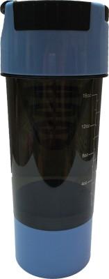 UDAK Cyclone 500 Ml Shaker, Bottle, Sipper (Pack Of 1, Cyan Blue, Black)