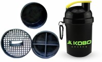 KOBO SHAKER SIPPER BLENDER BOTTLE WITH STORAGE COMPARTMENT (IMPORTED) 400 Ml Shaker, Bottle, Sipper (Pack Of 1, Green)