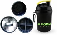KOBO SHAKER SIPPER BLENDER BOTTLE WITH STORAGE COMPARTMENT (IMPORTED) 400 Ml Shaker, Bottle, Sipper (Pack Of 1, Green)