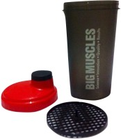 BIGMUSCLE PROTEIN 600 Ml Shaker (Pack Of 1, RED, BLACK)